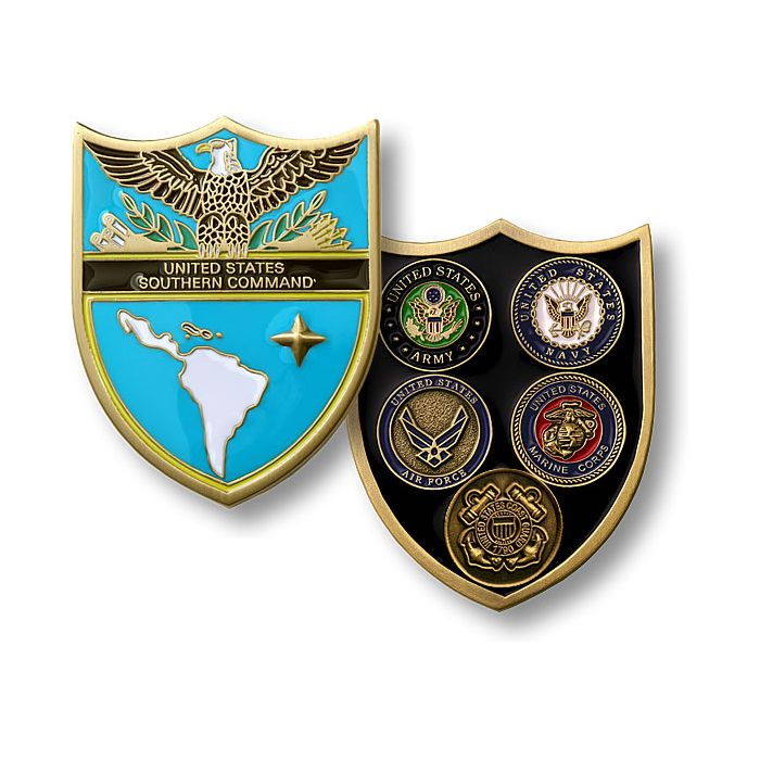 U S  Southern Command / Armed Forces - Bronze Challenge Coin