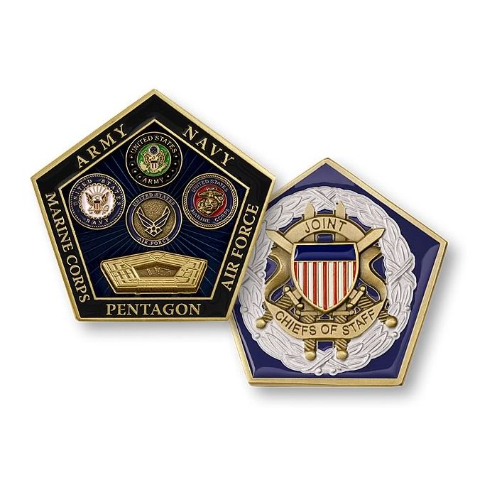 U S  Joint Chiefs of Staff / Armed Forces Seals - Pentagon Challenge Coin