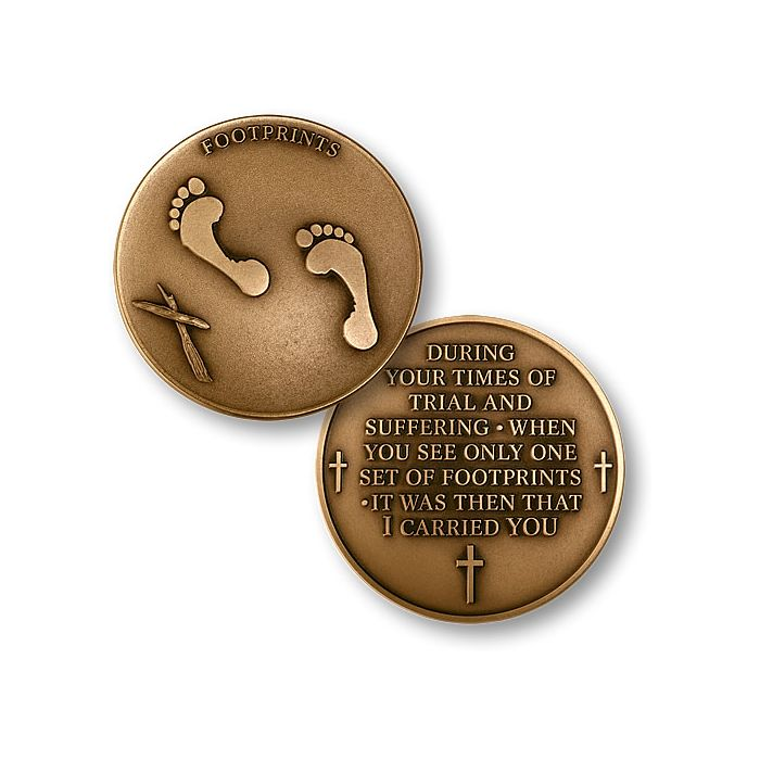 Lord's Footprints in the Sand - Bronze Challenge Coin
